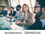 row of business people... | Shutterstock . vector #200483243