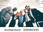 group of successful business... | Shutterstock . vector #200483330