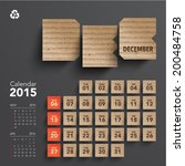 vector 2015 cardboard calendar... | Shutterstock .eps vector #200484758