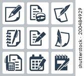 paper document vector icons set | Shutterstock .eps vector #200484929