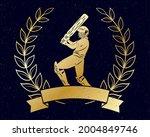 cricket golden wreath with... | Shutterstock .eps vector #2004849746