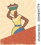 afro colombian saleswoman... | Shutterstock .eps vector #2004849779