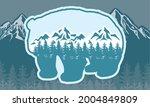 bear adventure emblem with... | Shutterstock .eps vector #2004849809