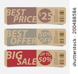 offers and promotions banners... | Shutterstock .eps vector #200488586