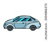 a passenger car on a neutral... | Shutterstock .eps vector #2004886373