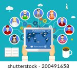 outsourcing. team of... | Shutterstock .eps vector #200491658