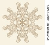 contemporary doily round lace... | Shutterstock .eps vector #200494298