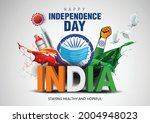 indian happy independence day... | Shutterstock .eps vector #2004948023