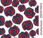 seamless pattern of curled...   Shutterstock .eps vector #2004974876