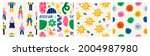 abstract characters  various... | Shutterstock .eps vector #2004987980