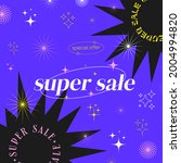 super sale modern trendy banner.... | Shutterstock .eps vector #2004994820