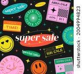 super sale modern trendy banner....   Shutterstock .eps vector #2004994823
