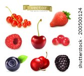 sweet berries  vector... | Shutterstock .eps vector #200500124