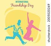 happy friendship day banner or...   Shutterstock .eps vector #2005020269