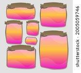 game ui set pink orange windows ...