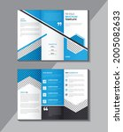 corporate tri fold brochure...   Shutterstock .eps vector #2005082633