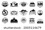 set of vector mountain and...   Shutterstock .eps vector #2005114679