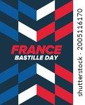 bastille day in france.... | Shutterstock .eps vector #2005116170