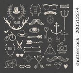 hipster style elements and... | Shutterstock .eps vector #200512274