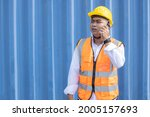 asian male container worker ... | Shutterstock . vector #2005157693