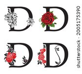 collection of letters d with... | Shutterstock .eps vector #2005175390
