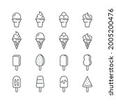 ice cream related icons  thin... | Shutterstock .eps vector #2005200476