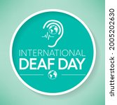 world deaf day is observed... | Shutterstock .eps vector #2005202630