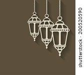 ramadan lantern background | Shutterstock . vector #200520590
