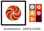 3d layered mandala svg. mandala ... | Shutterstock .eps vector #2005211900