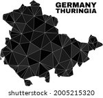 lowpoly thuringia land map.... | Shutterstock .eps vector #2005215320