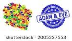 blue rosette textured seal... | Shutterstock .eps vector #2005237553