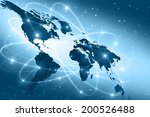 best internet concept of global ... | Shutterstock . vector #200526488