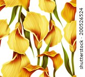 Seamless Calla Lilly Flower...