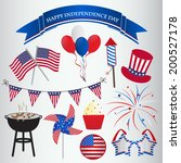 icons design for 4th of july ... | Shutterstock .eps vector #200527178