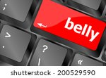 belly button on computer pc... | Shutterstock . vector #200529590