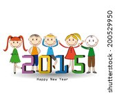 cute and colorful card on new... | Shutterstock . vector #200529950