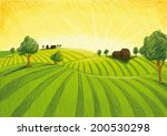 green horizon | Shutterstock .eps vector #200530298