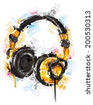 digital headphones | Shutterstock .eps vector #200530313