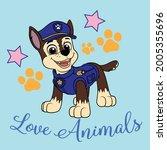 paw patrol love animals very...   Shutterstock .eps vector #2005355696