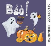 Lettering Boo  Ghosts  Pumpkins ...