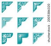 set of vintage frames  corner... | Shutterstock .eps vector #2005386320