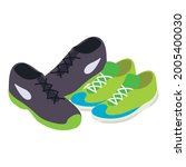 tennis shoes icon isometric...   Shutterstock .eps vector #2005400030