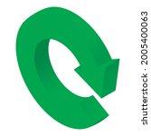reload icon isometric vector.... | Shutterstock .eps vector #2005400063