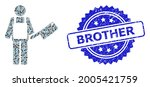 brother grunge seal print and...   Shutterstock .eps vector #2005421759