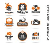 basketball icon set   2 | Shutterstock .eps vector #200543186