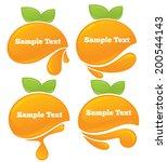 vector collection of fresh... | Shutterstock .eps vector #200544143