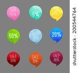 vector polygonal sale icon | Shutterstock .eps vector #200544764