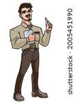 male teacher tech guy   a...   Shutterstock .eps vector #2005451990