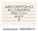 creative thin linear alphabet.... | Shutterstock .eps vector #2005458173