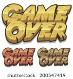 cartoon game over icon for ui...